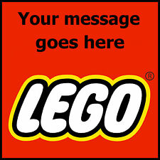 Lego Logo Poster printed with your personal custom greeting message high quality