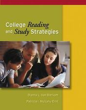 College Reading and Study Strategies (with InfoTrac) (Study Skills/Critical Thin