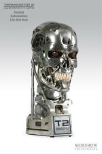 (in sealed) SIDESHOW TERMINATOR T-800 1/1 BUST T2  ENDOSKELETON Combat Version
