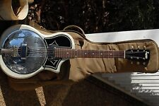 National/Supro/Valco 1133 Reso-Phonic Pearl White Resonator Guitar w/Case!