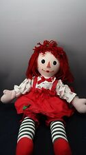 "Classic Madame Alexander Raggedy Ann Plush Stuffed Cloth Doll 18"" with tags"