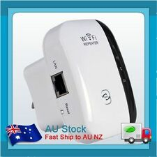802.11 Wifi Repeater 300Mbps Wireless-N AP Range Signal Extender Booster AU PLUG