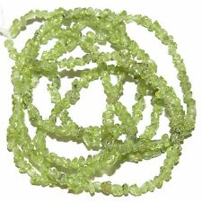 """NG1255f Natural Green Peridot X-Small (4mm) Polished Gemstone Mini-Chip Bead 36"""""""