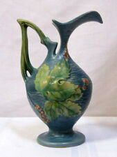 ROSEVILLE POTTERY, BUSHBERRY, LARGE EWER, NICE DETAIL AND COLOR, EXCELLENT~~~~