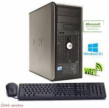 Dell Optiplex Desktop Computer Windows 8.1 Pro 3.0 GHz Core 2 Duo 8GB 1TB WIFI