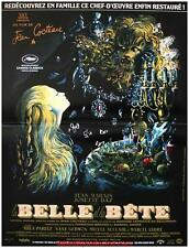 LA BELLE ET LA BETE Affiche Cinéma / Movie Poster JEAN COCTEAU Version RESTAUREE