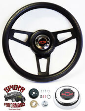 "1970-1988 Monte Carlo steering wheel BOWTIE BLACK SPOKE 13 3/4"" Grant"