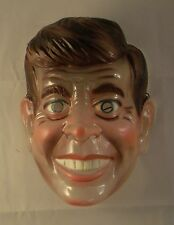 Vintage Early 1960's John Kennedy Adult 3/4 Head Plastic Translucent Mask