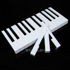 New 52 Pcs White ABS Plastic Piano Keytops Kit with Fronts Replacement Key E0Xc