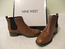 NINE WEST Jara Brown Leather Bootie Ankle Boot Size 7 NIB $120