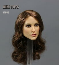 """1:6 KIMI TOYS KT008 Female Head Sculpt Carving Model For 12"""" Action Figure"""