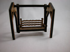 """Dollhouse Miniature 1/4"""" Scale 1: 48  Swing Set  For Yard  or Garden Play #Z236"""