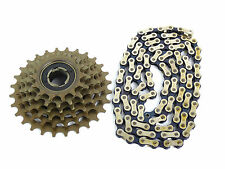 Suntour 6 speed freewheel & Chain Combo Accushift α Vintage Bicycle 14-28 NOS
