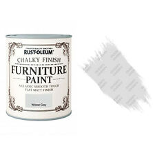 Rust-Oleum Chalk Chalky Furniture Paint Chic Shabby 750ml Winter Grey Matt