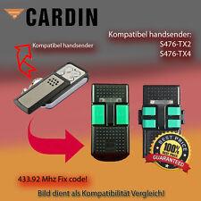 Handsender für CARDIN Garagentorantriebe 433,92 MHz S476 TX2,S476-TX4 Funksender