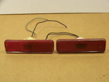 1973 DODGE CHARGER RED SIDE MARKER LIGHTS OEM MOPAR
