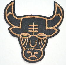 BULL HEAD  COW MASK APPLIQUE Embroidered Sew Iron On Cloth Patch Badge