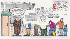1991 FRED COLLINS HAND-PAINTED FDC FANNY JACK BENNY COMEDIAN FOOTBALL TOPICAL