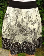 Rock grau schwarz MARC CAIN N1 Schmetterlinge Wollrock weiß Strickrock Gr,36
