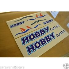 HOBBY Classic Caravan Sticker Decal Graphic - SET OF