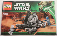 Star Wars Lego Instruction Manual Booklet Only #75015