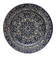 Beautiful Uzbek Ceramic plate made on a potter's wheel under glaze painting.