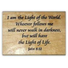 Light of the World, mounted rubber stamp, Christian bible verse, Jesus #22