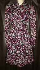 New Diane Von Furstenberg Arabella Diamond Vine Midnight Dress $398