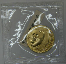 2001 China 100Y 1/4oz gold panda coin with D mark