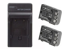 2 Pack of Canon E160814 Battery & Charger Set - 1800mAh Replacement Canon NB-2LH
