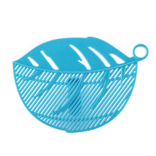 Durable Clean Leaf Shape Rice Wash Sieve Cleaning Gadget Kitchen Clips Tool A