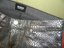 BRAND NEW Hudson NICO SUPER SKINNY MID-RISE jeans in silver Snake coated-26 2