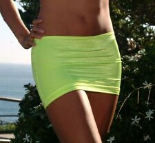 Sexy Yellow Lycra Micro Mini Skirt/Beach/Pole Dancer/Model/Made in USA/s-m