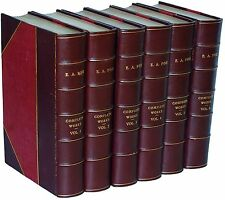 Works of Edgar Allan Poe 6 Volumes 3/4 leather published Armstrong 1884 nice set