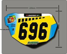 BMX Anti-Shatter Mini Race Plate & Graphic (2) with free number board stickers