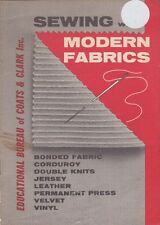 Coat's & Clark SEWING with MODERN FABRICS Booklet Instructional 12 Pages 1968