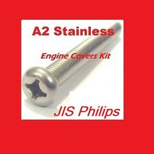 Crankcase Covers Kit - KH400 - Stainless Philips