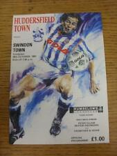 29/10/1991 Huddersfield Town v Swindon Town [Football League Cup] . Item in very