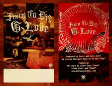 G.LOVE Fixin To Die Ltd Ed Discontinued RARE 2 Posters Lot +FREE Alt Rock Poster