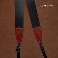 Black Leather Cam-in DSLR Camera Strap CAM2246 UK Stock
