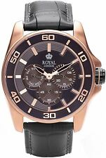 Royal London Gents Multifunction Watch with Black Leather Strap 41192-03