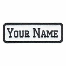 RECTANGULAR Custom Embroidered 4''x1.2'' Name Tag Patch Motorcycle Biker