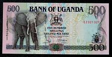 UGANDA 1998 MONEY 500 SHILLINGS ELEPHANT IMAGE Uncirculated AFRICAN BANKNOTES