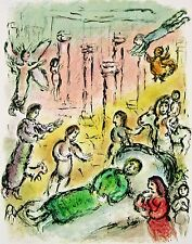 Ulysses' Bed (The Odyessy) 1989, Ltd Ed Lithograph, Marc Chagall