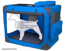 VALENTINA VALENTTI XXL PET FOLDING CANVAS CARRIER TRANSPORT SOFT CRATE XXL BLUE