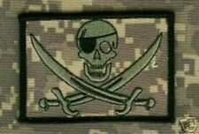 ARMY RANGERS PATHFINDER SHOULDER VELCRO PATCH: PIRATE CALICO ONE-EYE JACK