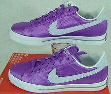 """New Womens 11.5 Nike """"Sweet Classic Textile"""" Purple White Canvas Shoes $60"""