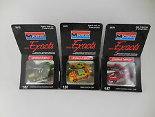 Lot of 3 Monogram Mini Exacts LE Stock Cars 1/87 HO Scale New in Box