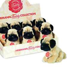 Pug collectable soft toy plush dog / puppy by Teddy Hermann - 92714