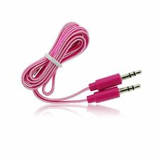 Cable Cordon Jack 3.5mm Stereo Male/Male 1 M Pour Iphone, Ipad Rose/white
